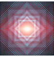 infinite polygonal or square tunnel vector image vector image