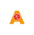 initial letter a basketball logo design vector image
