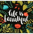 Inspirational poster with hand drawn vector image vector image