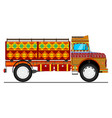 jingle truck vector image
