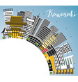 kawasaki japan city skyline with color buildings vector image vector image