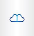 line cloud heart shape icon vector image