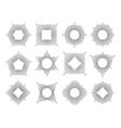 Line monogram frame set vector image vector image