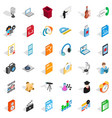 mail technology icons set isometric style vector image vector image