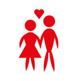man and woman pictogram icon couple design vector image vector image