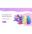 management and business planning landing page vector image