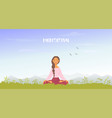 meditation mountains vector image vector image