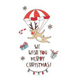 merry christmas doodle seamless pattern background vector image vector image