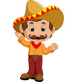 mexican cartoon character vector image vector image