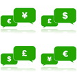 Money talk vector image vector image
