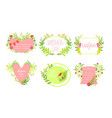 mothers day elegant card templates set design vector image vector image