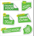 natural organic products green collection label vector image vector image