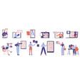 online business coaching webinar vector image