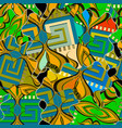 patchwork colorful seamless pattern vector image vector image