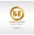 premium ar logo in gold beautiful logotype design