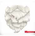 santa claus beard christmas mask 3d icon vector image vector image