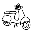 scooter drawing isolated icon design vector image vector image