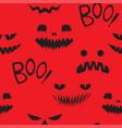 seamless pattern teeth smiling pumpkin vector image vector image
