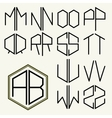 Set 2 template letters to create monograms vector image vector image