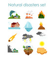 set color icons natural vector image vector image
