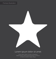 star premium icon white on dark background vector image vector image