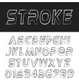 stroke font alphabet template letters and numbers vector image
