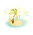 summer island wth palm trees vector image vector image