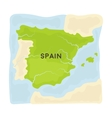 Territory of Spain icon in cartoon style isolated vector image vector image