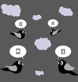 The Social Network Birds vector image vector image