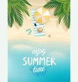 tropical beach poster vector image vector image