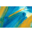 turquoise and yellow watercolor wallpaper vector image vector image