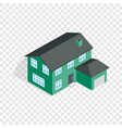 two storey house with garage isometric icon vector image vector image
