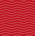 wavy line red seamless pattern vector image vector image