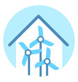 wind turbine icon alternative energy resource vector image