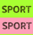 word sport vector image