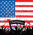 crowd cheer America vector image