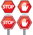 Stop signs vector image