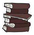 comic cartoon pile of books vector image
