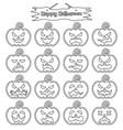 happy halloween - plain sticker pumpkin vector image