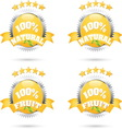100 fruit vector image