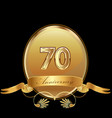70th golden anniversary birthday seal icon vector image vector image