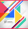 abstract colorful geometric with triangles vector image vector image