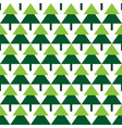 abstract green spruce trees geometric pattern vector image vector image