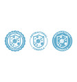 antibacterial hand gel icon shield logo anti vector image