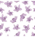 aquilegia pattern floral textile print illu vector image vector image