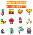 art of Chinese New Year icon vector image vector image
