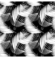 black and white tropical seamless pattern vector image vector image