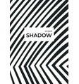 black shadows for overlap striped background vector image