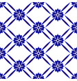 blue and white pattern background vector image vector image
