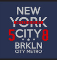 brooklyn remix typography t shirt graphics vector image